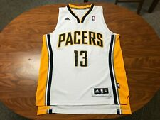 MENS USED 2014 ADIDAS PAUL GEORGE INDIANA PACERS BASKETBALL JERSEY SIZE MEDIUM