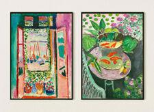 More details for set of two henri matisse exhibition poster, vintage art, wall art decor print