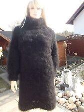 Traummohair Fuzzy longhair mohair suéter Sweater dress roll cuello Neck XL nuevo