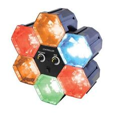 Lloytron C5211 6 Hexagonal LED Linkable Disco Lights Sound Sensitive Adjust New