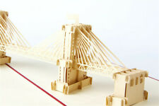 Brooklyn Bridge Building 3D Pop up Gift Cards Famous Creative Hot Greeting card
