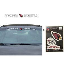 NFL Arizona Cardinals Car Truck Suv Windshield Decal Sticker with Bonus