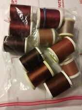 Gudebrod Rod Thread mixed lot of 11 spools/colors sizes types Ncp Etc.
