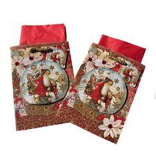 Punch Studio 62444 Small Gift Bag 3D Glitrer & Gem Embellished. Santa Snow Glob