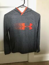 Boys Youth Under Armour Heat Gear Hooded Sweatshirt Medium Hoodie