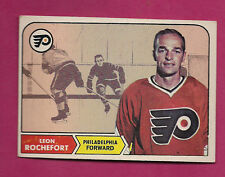 1968-69 TOPPS # 95 FLYERS LEON ROCHEFORT ROOKIE   CARD