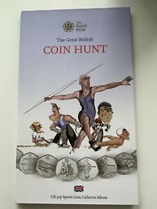 50p Olympic 2012 Coins - Full Complete Set In Album (No Completer Medallion)