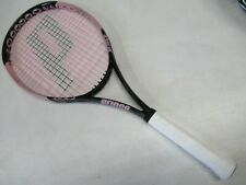 "Prince O3 Pink 110 ""Hope"" ""Breast Cancer"" Tennis Racquet (4 1/8) New Grip!"