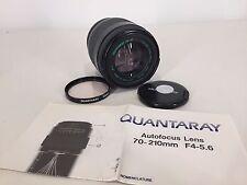 QUANTARAY Minolta MX AF 70-210mm f/1:4-5.6 SLR Camera Lens Sony Digital Manual