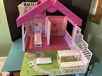 Vintage Mattel Barbie Fold 'N Fun House Folding Case 1992
