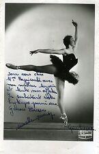 """""""Monette DENSY"""" Photo originale dédicacée à Mme RAPICAULT /STUDIO HOLLYWOOD 1956"""