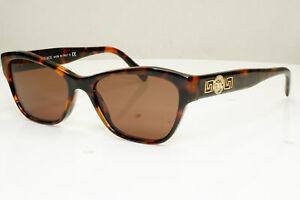 Authentic VERSACE Womens Vintage Sunglasses Gold Medusa Brown 3180 944 31347