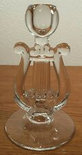 Paden City Glass Lyre Harp Single Light Candlestick Candle Holder