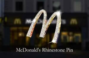 Great collection, Mcdonald Gold Arch Jewelry pin, China staff purpose.