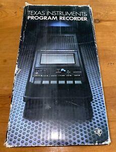 TI Texas Instruments Program Black Recorder Model PHP2700 Cassette  (Ti-99/4A)