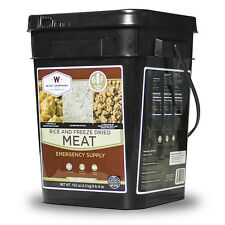 Gluten Free Freeze Dried Meat & Rice - 104 Servings of Wise Emergency Survival F