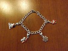 bracelet de noël argenté 4 charms (bra02)