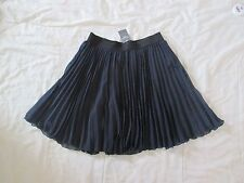 NEW Abercrombie & Fitch Womens Navy Blue Pleated Mini Skirt Small Lined NWT