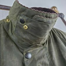 BARBOUR BEAUFORT ENGLAND Size 44 Large Sage Mens Waxed Cotton Field Jacket Coat
