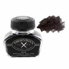 Thorntons Luxury Goods Fountain Pen Ink Bottle 30ml - Black