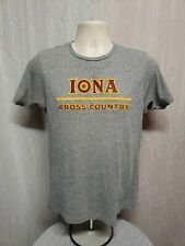 Iona College Cross Country Womens Small Gray TShirt