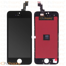 TOUCH SCREEN LCD DISPLAY RETINA PER APPLE IPHONE 5S VETRO SCHERMO NERO FRAME