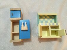Le Toy Van Cupboard and Closet Doll house Wooden Miniatures Furniture