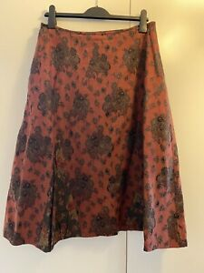 Lilith Womens Red/brown Patterned A-Line Skirt Size XL