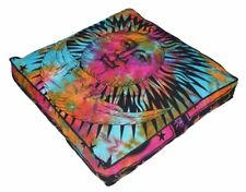 "Indian Mandala Floor Pillow Sun Moon Meditation Cushion Cover Dog Bed Square 35"""