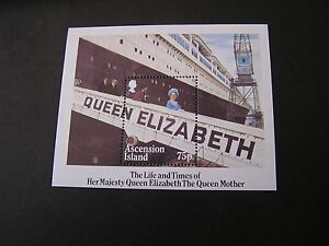 ASCENSION IS. SCOTT # 376, S/S 1985 QUEEN MOTHER 85TH BIRTHDAY ISSUE MNH