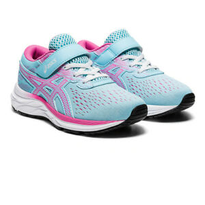 Asics Girls Gel-Excite 7 PS Running Shoes Trainers Sneakers Blue Pink Sports
