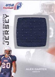 2012 UPPER DECK USA FOOTBALL FUTURE SWATCH JERSEY ALEX CARTER #FS-2
