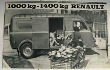 RENAULT 1000kg - 1400kg Commercial Sales Brochure 1957 #P L 617.5609 French text