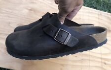 Womens BIRKENSTOCK Brown Clog Shoes Size 8-8.5 Euro Size 39 GOOD CONDITION