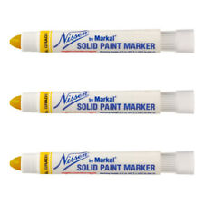3 Pack - Yellow Nissen Standard Industrial Grade Solid Paint Markers, 28771