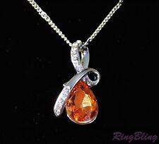 Reducción de Cristal Colgante Collar! ámbar Elegante-Collar de ámbar de cristal de 70% De Descuento