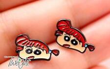 Crayon Shin-chan red hair metal earring ear stud earrings 2PCS earring ne