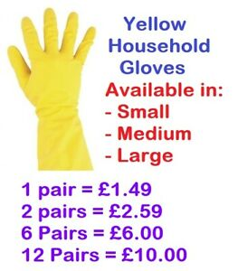 Washing Up Gloves, Household Rubber Dish Washing Scrubber Cleaning
