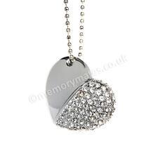 8GB Silver Diamond Heart USB Flash Drive/Memory Stick/Wedding/Photography/Gift