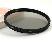 77mm CPL Circular Polarizer Camera/Camcorder Lens Filter for nikon sony canon