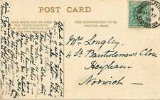 RAILWAY : 1904 GRIMSBY & PETERBOROUGH STG.CARRIAGE. double ring cancel on PPC