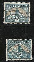 South Africa Scott #51a & 51b, Singles 1936 FVF Used