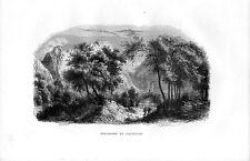 Stampa antica VALTELLINA BOLLADORE Sondalo Sondrio 1885 Old print