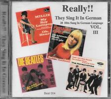 """RARO CD GERMANY BRANI IN TEDESCO """" REALLY !! THEY SING IT IN GERMAN VOL. 3 """""""