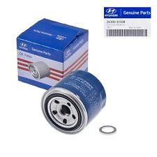 Genuine OEM For Hyundai/Kia Oil Filter 26300-35504 & Plug Gasket