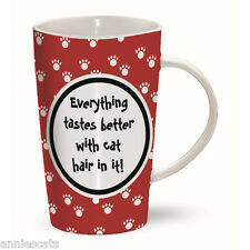 Everything Tastes Better With Cat Hair In It! Latte Mug Cat Lovers Quality Gift