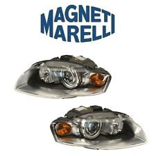 For Audi A4 Quattro RS4 S4 Set Of Left Right Bi-Xenon Headlight Assies Marelli