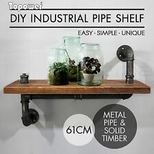 Industrial Wall Shelves Rustic Pipe Storage Shelving Vintage Bookshelf Decor DIY