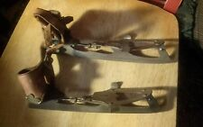 Antique B&B size 1 Steel Ice Skates with original leather straps