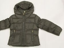 New tag Girls Ralph Lauren Olive Green Polo Hooded Down Defender Winter Jacket 5